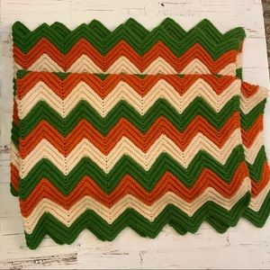 Vintage retro crocheted blanket/throw